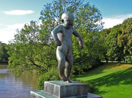 Statue in Oslo Norway