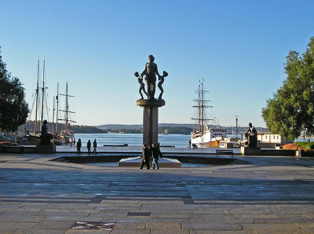 Monument at the Oslo Harbor in Norway