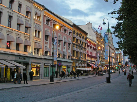Karl Johans Gate in Oslo Norway