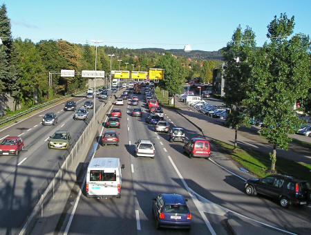 Highway in Oslo Norway