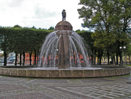 Fountain in Oslo Norway