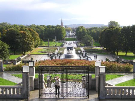 Vigeland Park in Oslo Norway